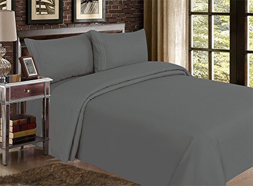 Red Nomad Luxury Duvet Cover & Sham Set, 3 Piece, Full/Queen, Charcoal Gray (Cheap Pottery Barn)