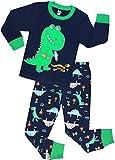 shelry Boys Dinosaur Pajamas Children Christmas Clothes 100% Cotton Kids Sleepwear