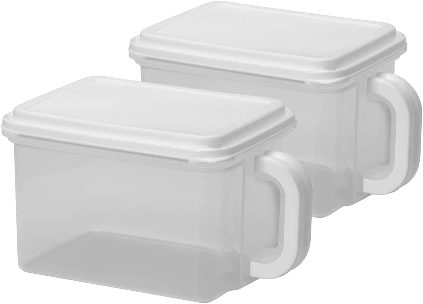 Buddeez 00251-2 2PK Store and Pour BPA Free, Plastic Food Storage Containers - 21 Cup, White
