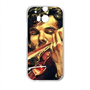 Custom Sherlock Holmes HTC One M8 Phone Case Back Case Nupro Lightweight and Snap-on Perfect 2 in 1
