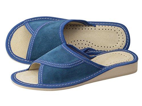 aveego - Zapatillas de estar por casa de Otra Piel para mujer Azul