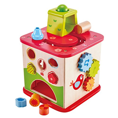 Hape Kids Pepe & Friends Wooden Activity Cube and Center