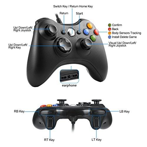 RUPPOLAR Game Controller Gamepad USB Pad Joystick Joypad Gamepad Game Controller for Xbox 360 Slim and PC Computer Laptop Windows 7 Xbox 360