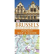 Brussels Pocket Map and Guide: Bruges, Ghent & Antwerp.