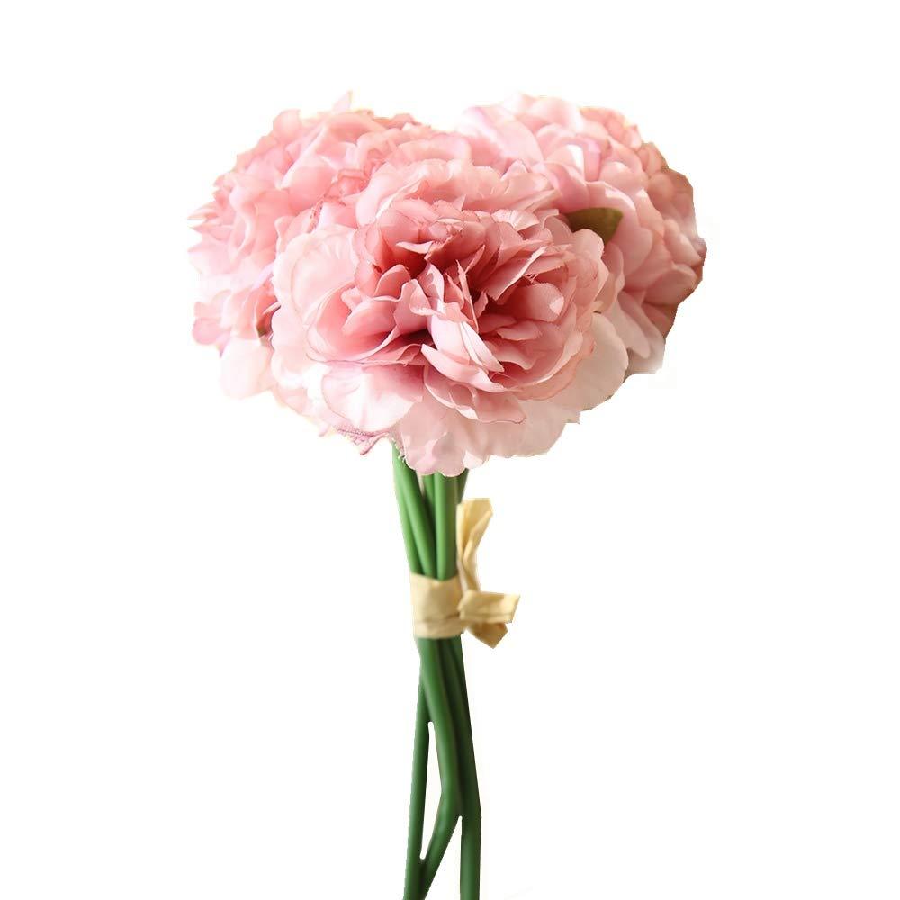 Kirin Artificial Fake Flowers Plants Silk Hydrangea Peony Flower Arrangements Wedding Bouquets Decorations Plastic Floral Table Centerpieces For Home
