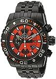 GV2 by Gevril Polpo Mens Chronograph Swiss Quartz Black Stainless Steel Bracelet Watch, (Model: 1402B)