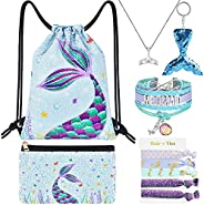 WERNNSAI Mermaid Drawstring Pack - Sequins Mermaid Gift