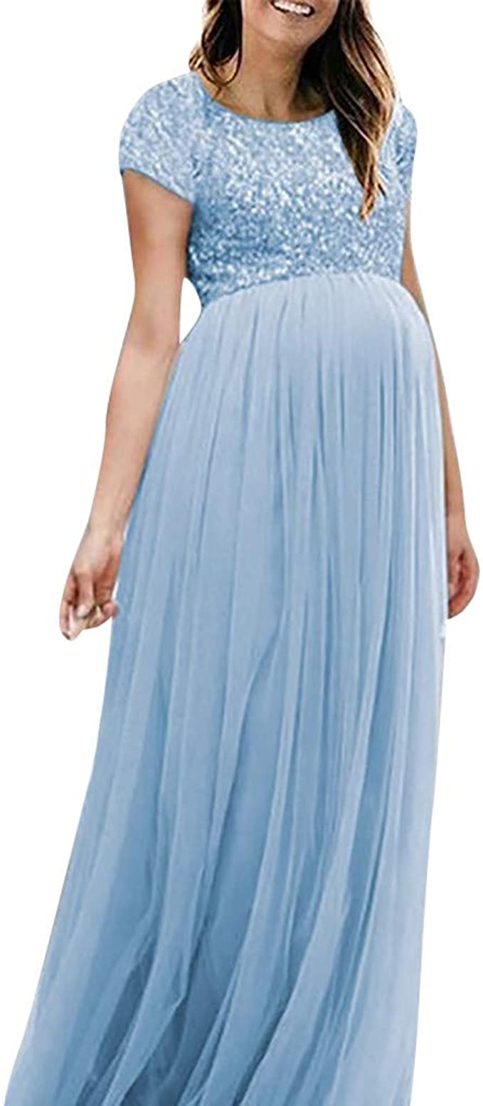 Lenfesh Kleid für Schwangere Trauzeugin Schwangerschaftskleid