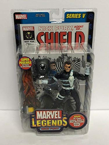 Nick Fury MARVEL LEGENDS 2003 action figure series V with Comic Book from Legends