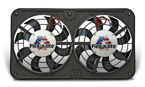 (Flex-a-lite 420 Lo-Profile S-Blade Dual Electric Puller Fan)