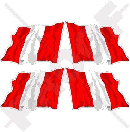 PERU Peruvian Civil Waving Flag, South America 2