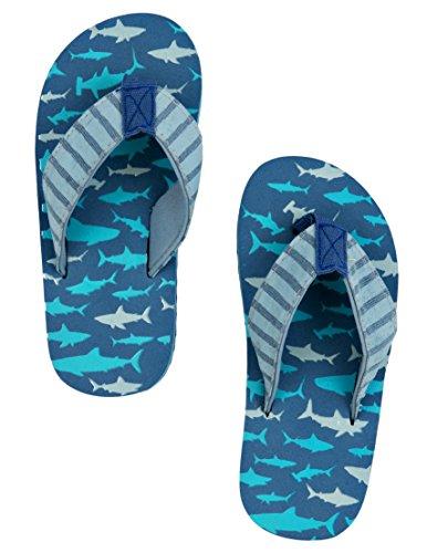 Hatley Jungen Lbh Kids Flip Flops-Sharks Attack Dusch-& Badeschuhe Blau