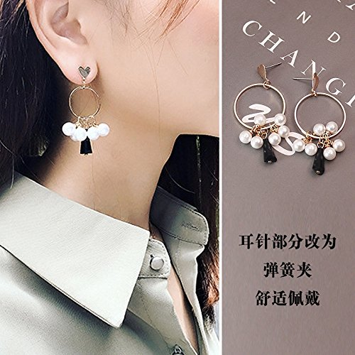 Full 29 Korean jewelry pearl ring fashion crystal grapes without pierced ear clip-on earrings female earrings -