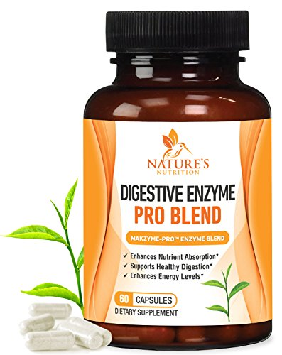 Digestive Enzymes Plus Prebiotics & Probiotics 1000mg - Natural Pancreatic Support Supplement for Better Digestion - Gas, Constipation & Bloating Relief by Nature's Nutrition - 60 Vegan Capsules