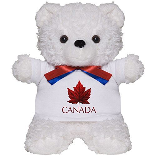 CafePress - Canada Teddy Bear Cute Canada Souvenir Plush Toys - Teddy Bear, Plush Stuffed Animal