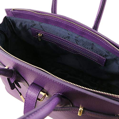 Tuscany mano Leather con Viola accessori Talpa scuro Borsa TL141529 TL Bag oro media a rCrxqRwAX