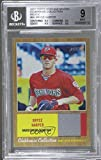 #4: Bryce Harper Graded BGS 9 MINT (Baseball Card) 2011 Topps Heritage Minor League Edition - Clubhouse Collection Relics #CCR-BH