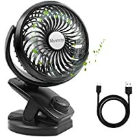 Mystery Clip on Fan Quiet Desk Fan Battery Operated Personal Fan with Fragrance Feature 360 Degree Rotation USB Fan Strong Wind Adjustable Speed Portable Fan(Battery NOT Included)