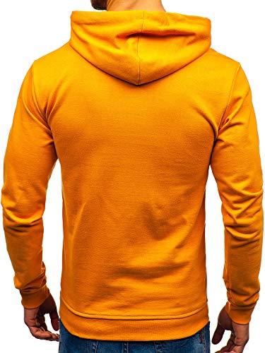 Poche Longues Sweatshirt 1a1 5361 Sportif Basique Homme Bolf Manches Avec Camel Hiver Kangourou Capuche xnYF1Hq8Aw