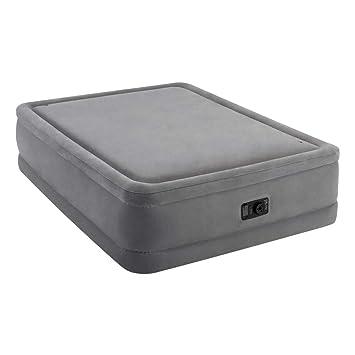 Intex Lit Gonflable électrique 2 Personnes Intex Foam Top Bed Fiber