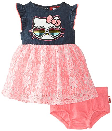 Hello Kitty Code (Hello Kitty Baby Girls' Tutu Dress, Knockout Pink Baby, 12)