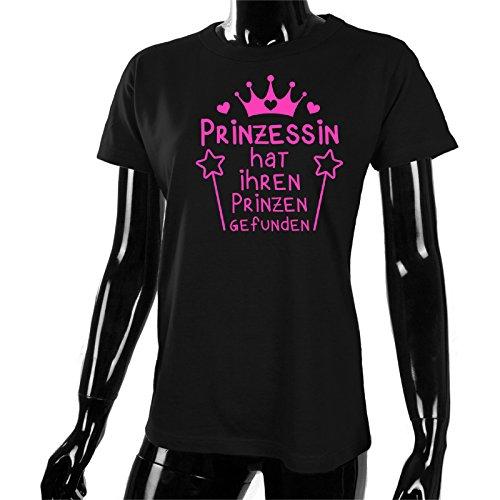 Damen T-Shirt Prinzessin Hat Ihren Prinzen Gefunden für Den  Junggesellenabschied (Frauen Braut) in Schwarz, Größe XXL  Amazon.de   Bekleidung ead5ee92ae