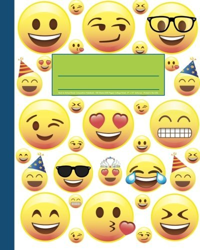 Back to School Emoji Composition Notebook 8x10 College Ruled Journal Softcover Printed in the USA