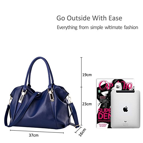 Messenger Bag Women Shoulder Women Portable Ruiren Soft Blue for Bag Purse Multifunction Bags Shoulder Bag v7nS8nx