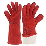 YAOBAO Fire Resistant Gloves,Perfect For Fireplace, Stove, Oven, Grill, Welding, BBQ, Mig, Pot Holder, Animal Handling Gloves