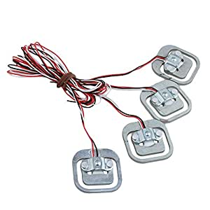 CNBTR Silver YZC-161B 50kg Aluminium Alloy Human Body Scale Weighing Sensor Pack of 4