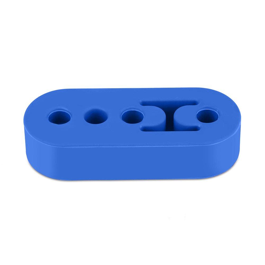 Qiilu 4-trous 11mm support de fixation tuyau d' é chappement support de suspension isolateur en caoutchouc pour voiture(jaune)