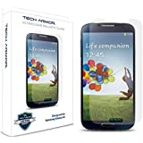 Tech Armor Samsung Galaxy S4 SIV Premium Ballistic Glass Screen Protector - World's Clearest Screen Protector - Retail Packaging