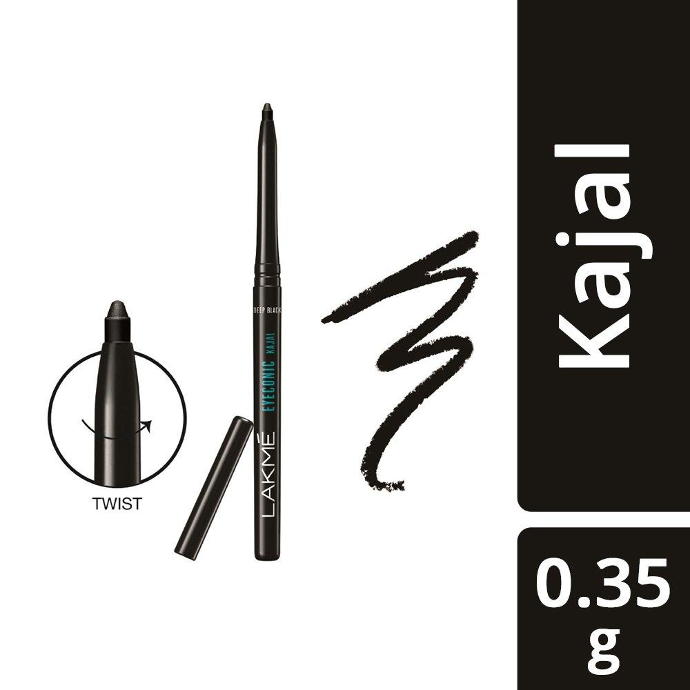 Lakme Eyeconic Kajal, Deep Black, 0.35 g 22810