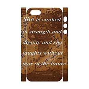 Durable Rubber Cases iphone5 5S 3D Cell Phone Case White Lwpxv Quotes Protection Cover