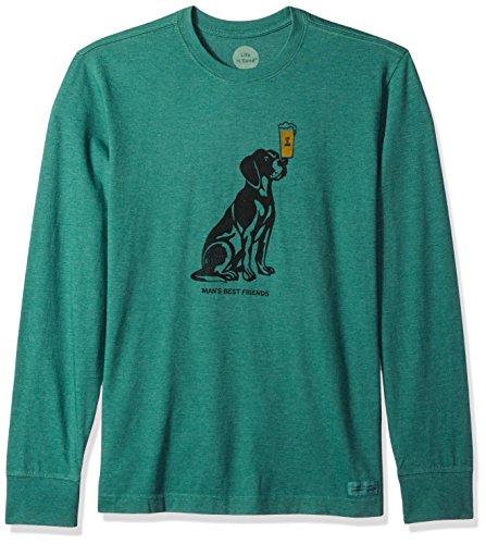 Life is good Men's Crusher Long Sleeve Men's Best Friend Htfrgr T-Shirt,,