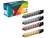 Do it Wiser Compatible 4-pack Toner Cartridges for Ricoh Aficio SPC410DN SP C410DN C410 - 888308 888311 888310 888309 - Yield 15,000 pages