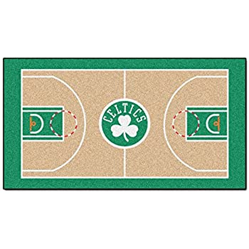 Amazon Com 92 In Nylon Face Boston Celtics Rug Sports