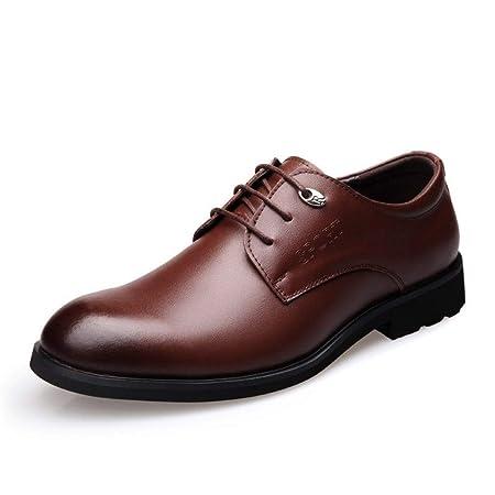 YUNLI Zapatos de Cuero Hombre Oxford Zapatos De Cuero De ...