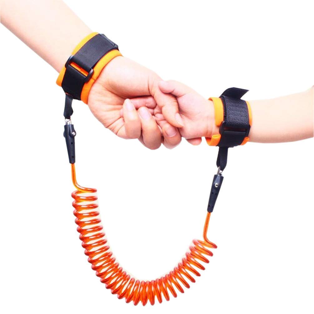 Safety Leash Wristband//Hand Harness for Walking and Travel Outside 360/°Rotate Security Elastic Wire Rope for Baby and Toddler Reins Pink MODEOR 2.5M Anti Lost Wrist Link Belt