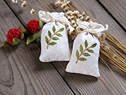 Mini Portable Handmade Aromatherapy Decorated Scented Sachet For Closet/Car/Drawer (20, Vanilla)