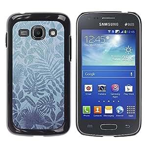 TopCaseStore / la caja del caucho duro de la cubierta de protección de la piel - Nature Leaves Tropical Wallpaper - Samsung Galaxy Ace 3 GT-S7270 GT-S7275 GT-S7272