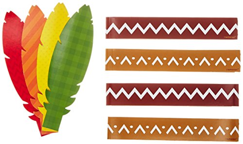 amscan Thanksgiving Make Your Own Headband Kit | Makes Up to 4 Headbands | Party Activity, 12 Ct. -