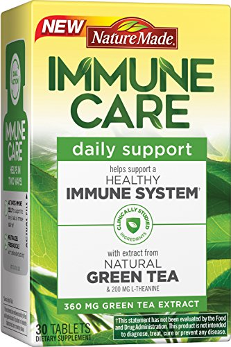 Nature Made Immune Care Daily Support Tablets w. Natural Green Tea Extract & L-theanine 30 (Immune Support Green Tea)