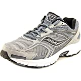 Saucony Men's Cohesion 9 Grey/Silver/Black Sneaker 13 E - Wide