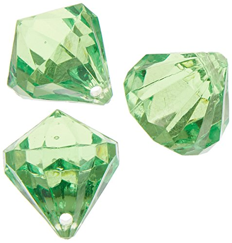 Homeford Firefly Imports Hanging Acrylic Crystal Table Confetti, 1-Inch, 25-Pack, Apple Green,