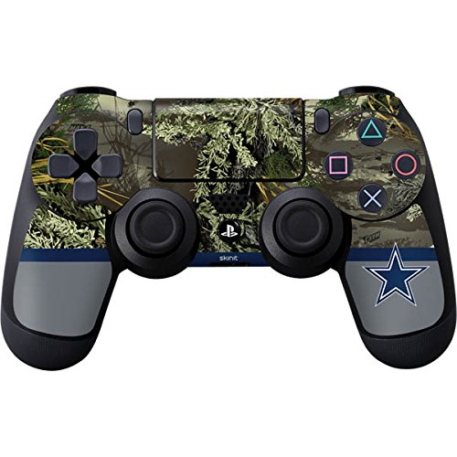 Skinit Realtree Camo Dallas Cowboys PS4 Controller Skin - Officially Licensed NFL PS4 Decal - Ultra Thin, Lightweight Vinyl Decal Protective Wrap