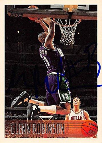 (Glenn Robinson autographed Basketball Card (Milwaukee Bucks) 1996 Topps #122)