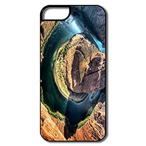 IPhone 5 Covers, Horseshoe Bend Arizona Cases For IPhone 5 5S - White/black Hard Plastic