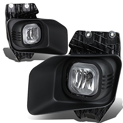 For 11-16 Ford Super Duty Bumper Driving Fog Lights+Wiring Kit+Bezel+Switch (Clear Lens) (Super Duty Wiring)