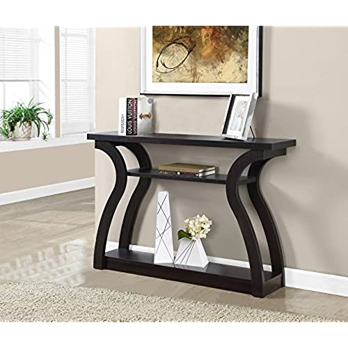 monarch specialties i 2445 hall console accent table cappuccino 47l - Foyer Table
